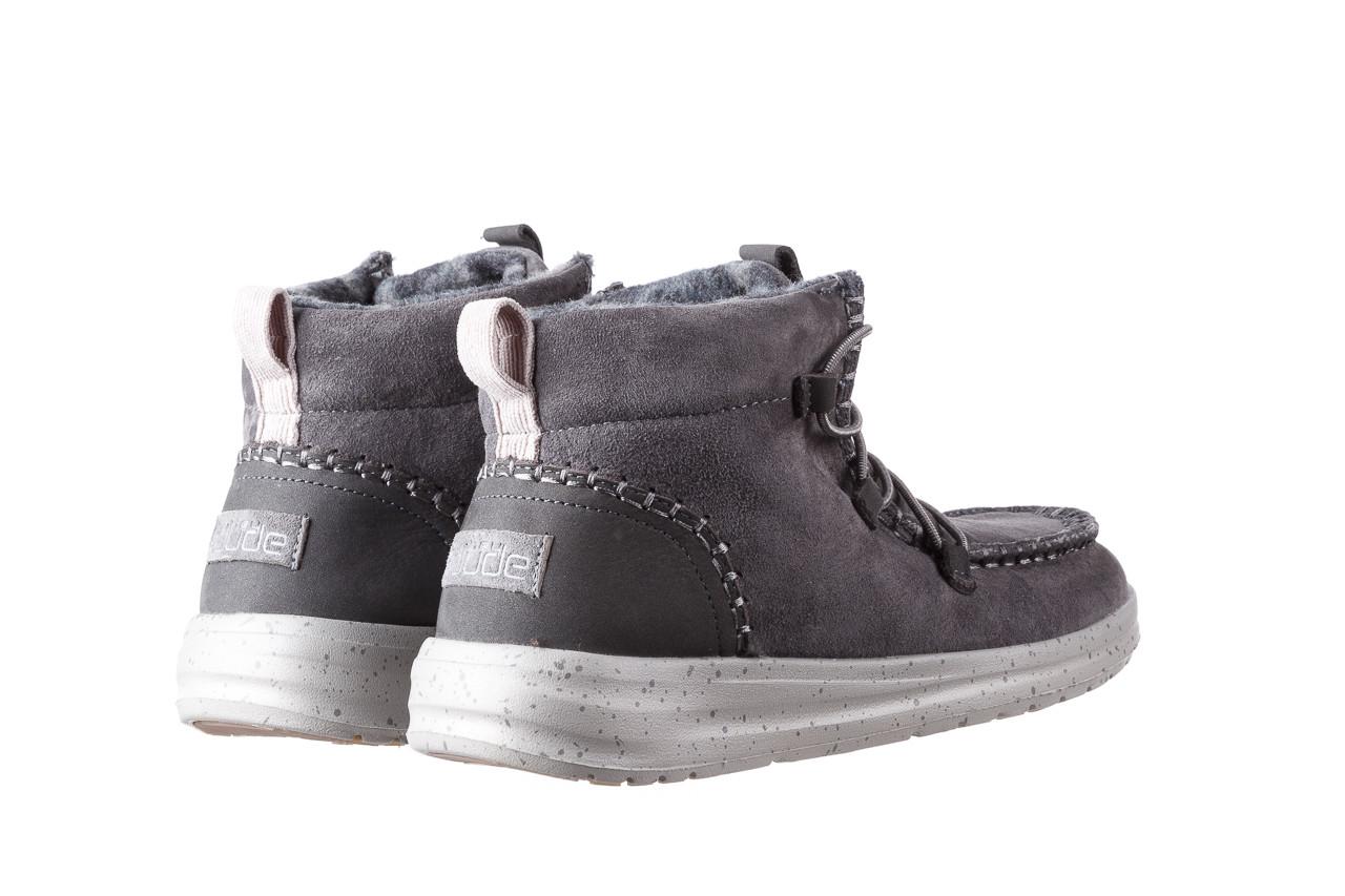 Śniegowce heydude eloise suede dark grey 003195, szary, skóra naturalna  - heydude - nasze marki 12