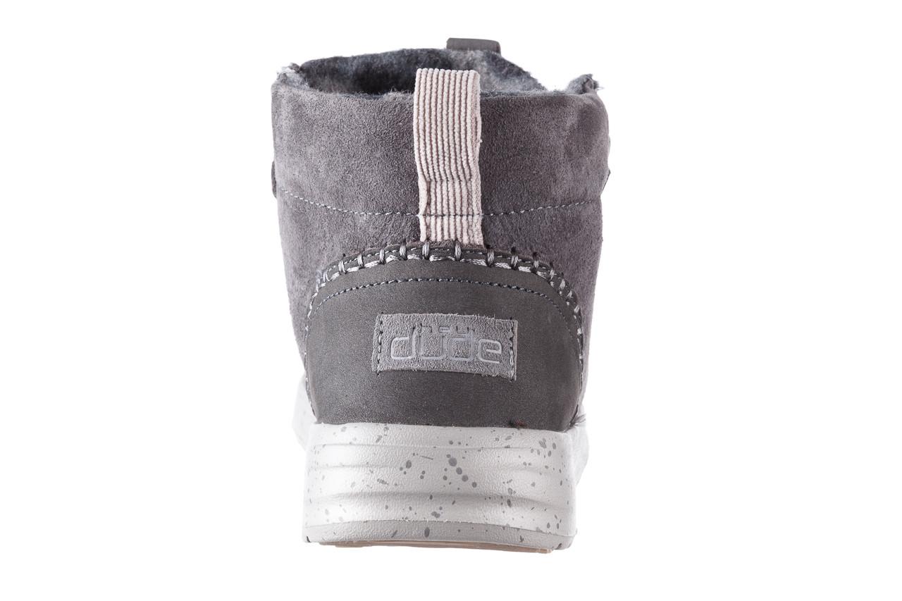 Śniegowce heydude eloise suede dark grey 003195, szary, skóra naturalna  - heydude - nasze marki 15