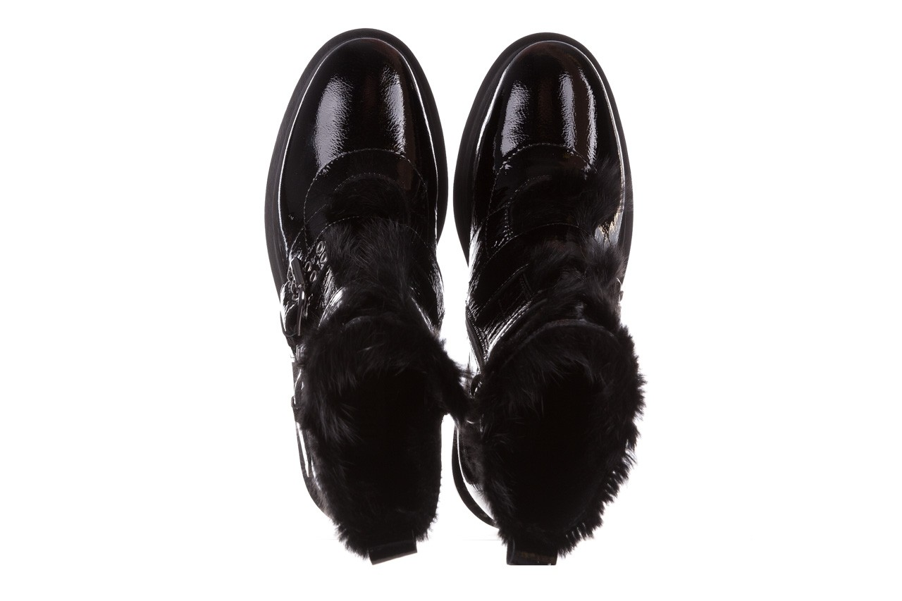 Trzewiki bayla-161 050-7863 black, czarny, skóra naturalna lakierowana  - trzewiki - buty damskie - kobieta 16