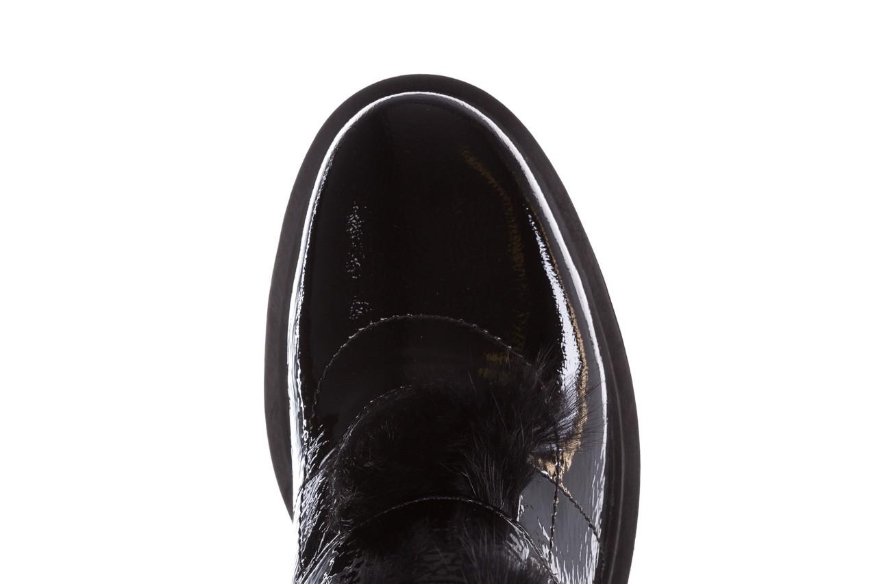 Trzewiki bayla-161 050-7863 black, czarny, skóra naturalna lakierowana  - trzewiki - buty damskie - kobieta 18