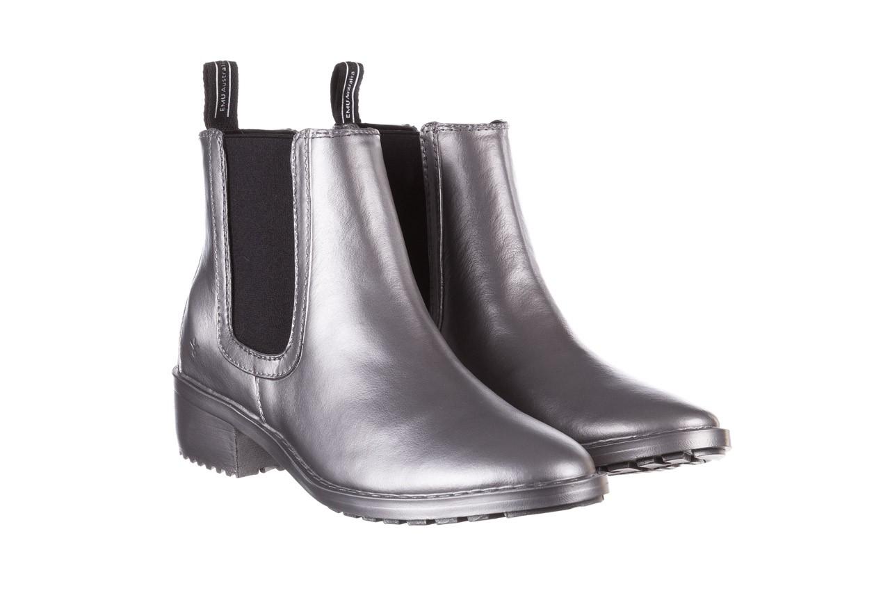 Kalosze emu ellin rainboot silver 119125, srebrny, guma - śniegowce i kalosze - dla niej  - sale 12