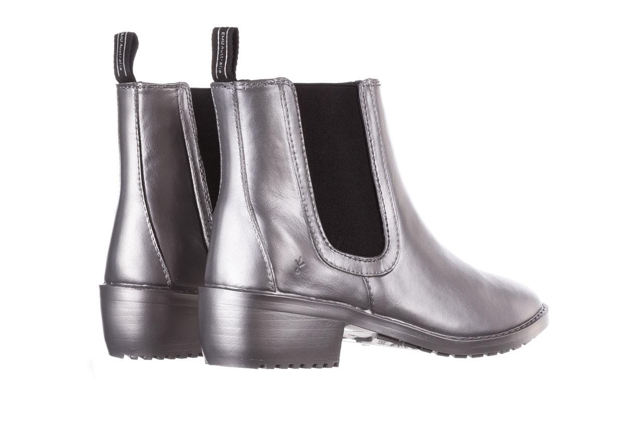 Kalosze emu ellin rainboot silver 119125, srebrny, guma - śniegowce i kalosze - dla niej  - sale 14