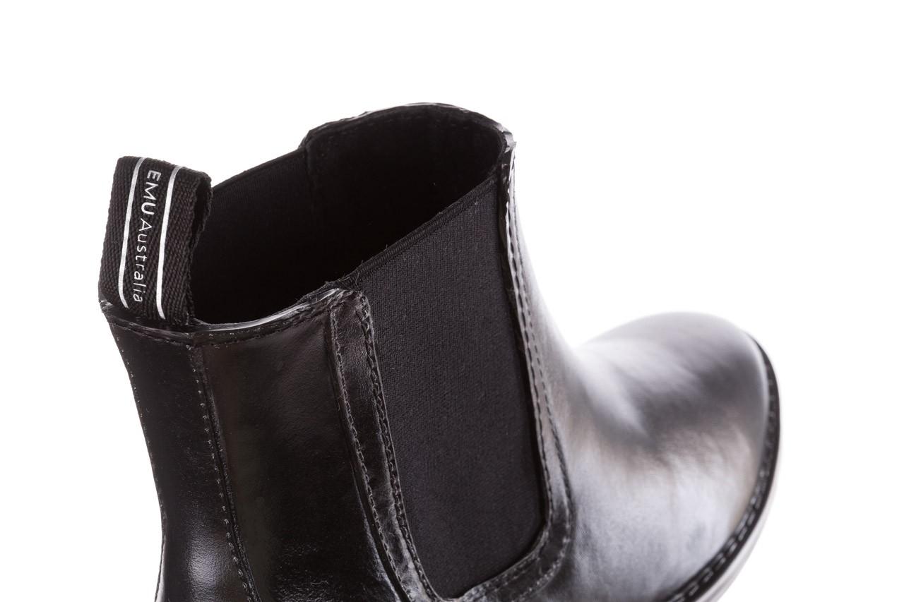 Kalosze emu ellin rainboot black 119126, czarny, guma 16