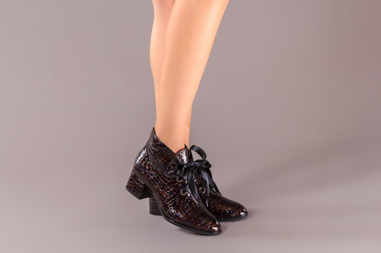 Botki bayla-194 9347 1743 brąz 194003, skóra naturalna lakierowana  - skórzane - botki - buty damskie - kobieta 12