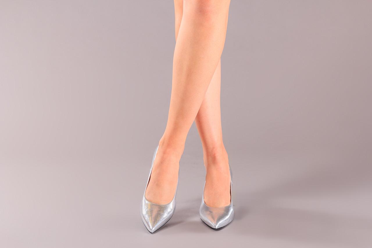 Czółenka bayla-056 9117-1103 srebrny 056518, skóra naturalna  - skórzane - czółenka - buty damskie - kobieta 9