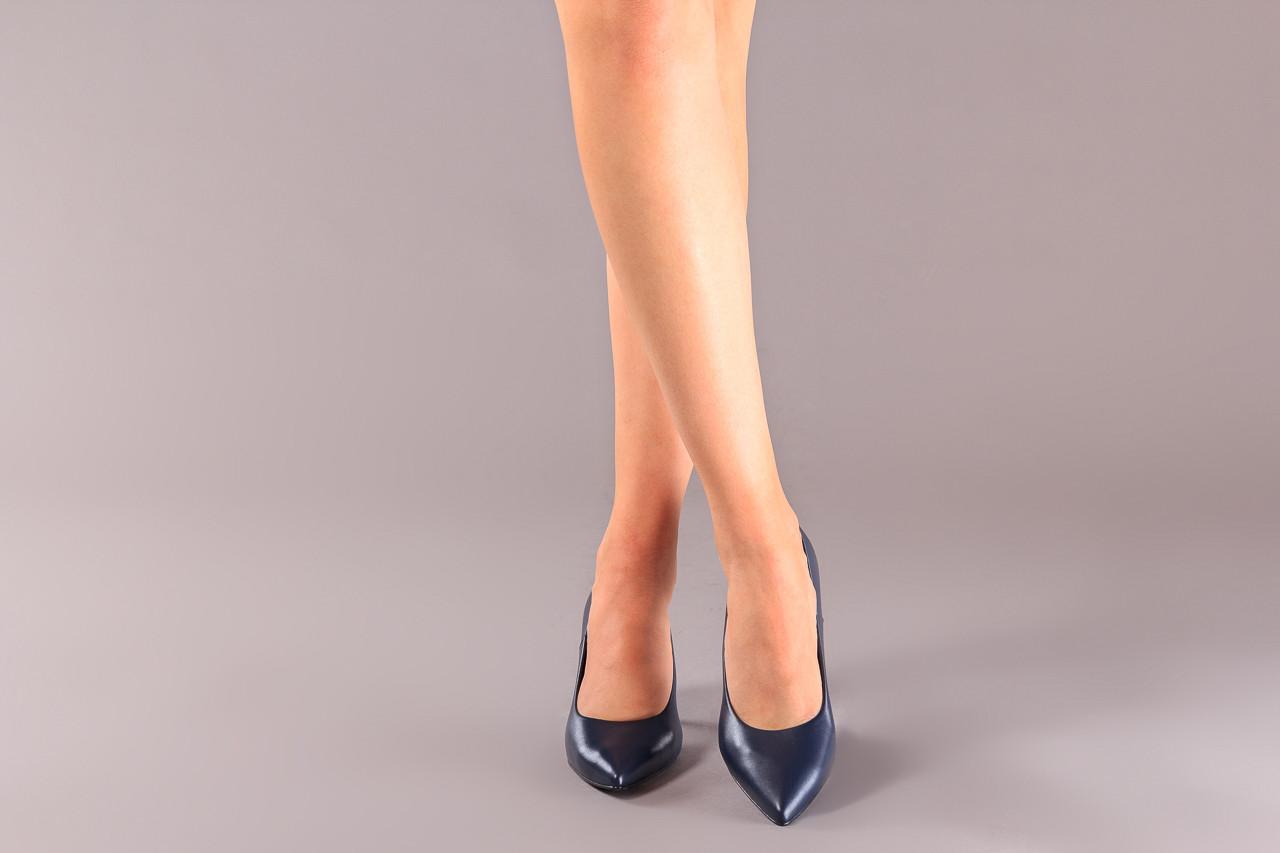 Czółenka bayla-056 9117-766 granat 056517, skóra naturalna  - skórzane - czółenka - buty damskie - kobieta 9
