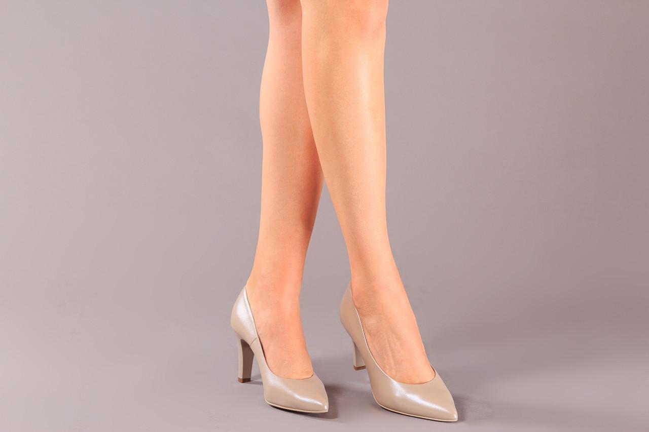 Czółenka bayla-056 7060-1461 beż perła 056516, skóra naturalna  - na słupku - czółenka - buty damskie - kobieta 9