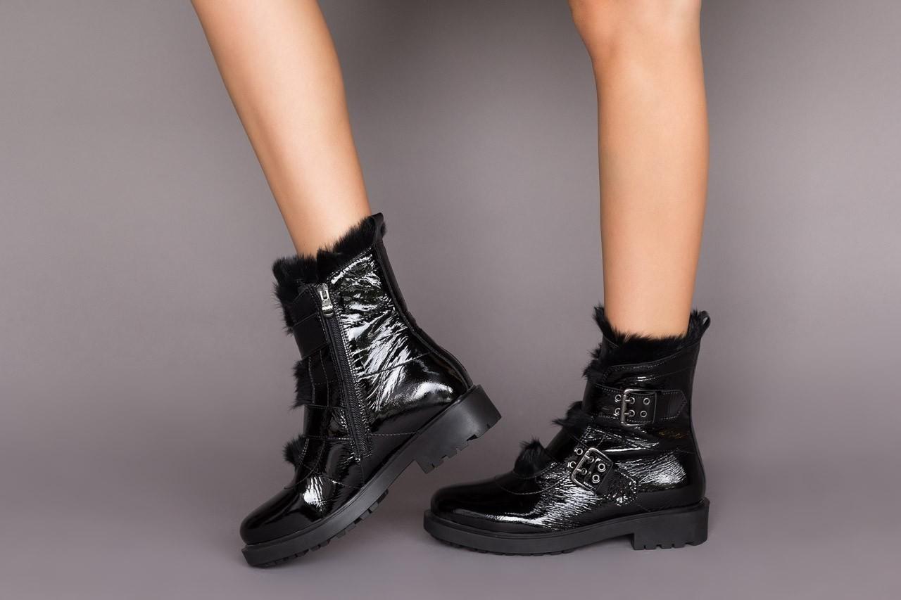 Trzewiki bayla-161 050-7863 black, czarny, skóra naturalna lakierowana  - trzewiki - buty damskie - kobieta 13