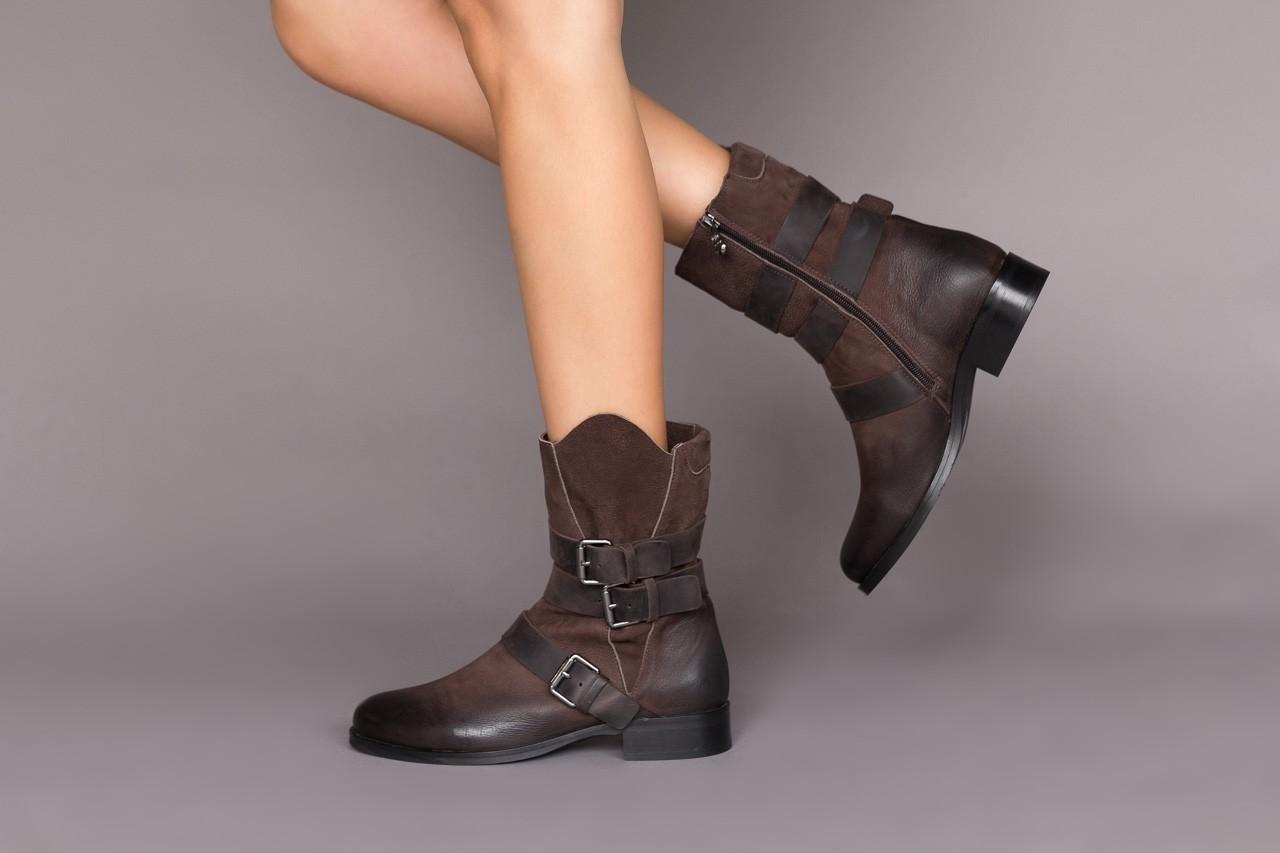 Botki bayla-161 050-09435 brown, brąz, skóra naturalna  - skórzane - botki - buty damskie - kobieta 13