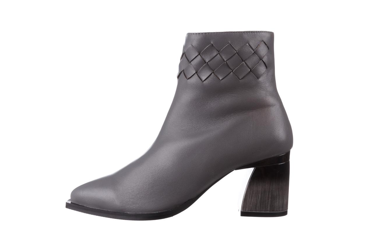 Botki bayla-195 20k-6811 grey 195006, szary, skóra naturalna  - skórzane - botki - buty damskie - kobieta 14