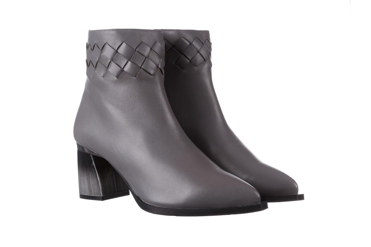 Botki bayla-195 20k-6811 grey 195006, szary, skóra naturalna  - skórzane - botki - buty damskie - kobieta 12