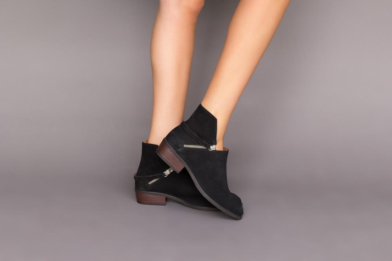 Botki bayla-161 061-2005 black, czarny, skóra naturalna  - skórzane - botki - buty damskie - kobieta 11