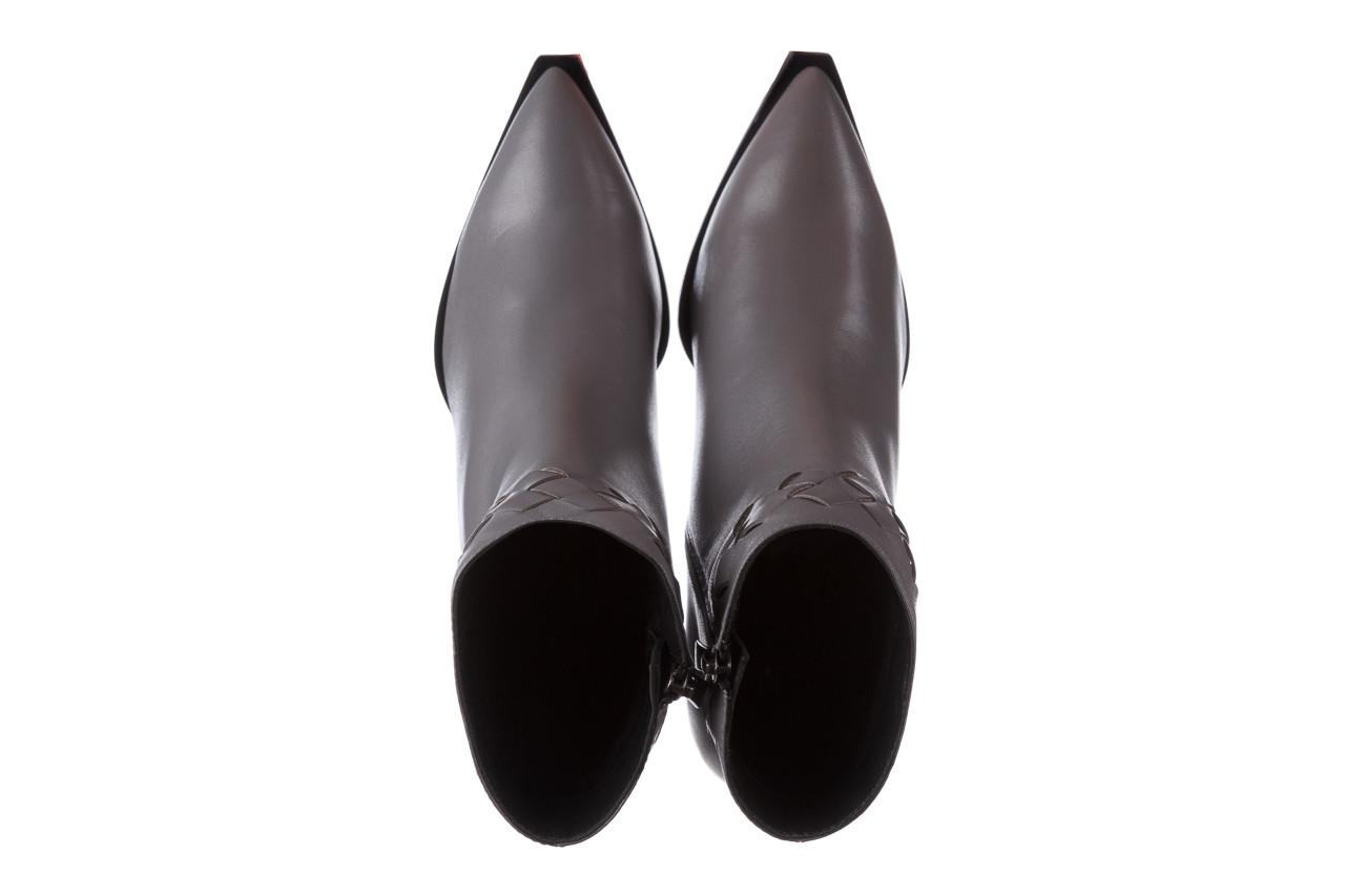 Botki bayla-195 20k-6811 grey 195006, szary, skóra naturalna  - skórzane - botki - buty damskie - kobieta 16