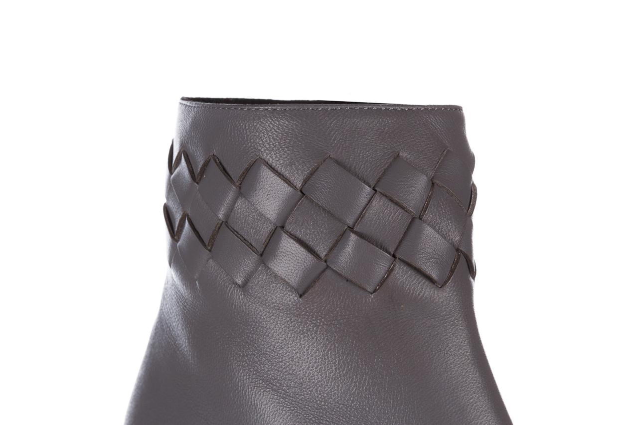 Botki bayla-195 20k-6811 grey 195006, szary, skóra naturalna  - skórzane - botki - buty damskie - kobieta 17