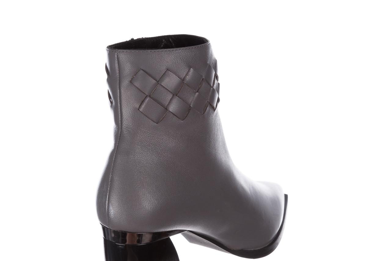 Botki bayla-195 20k-6811 grey 195006, szary, skóra naturalna  - skórzane - botki - buty damskie - kobieta 18
