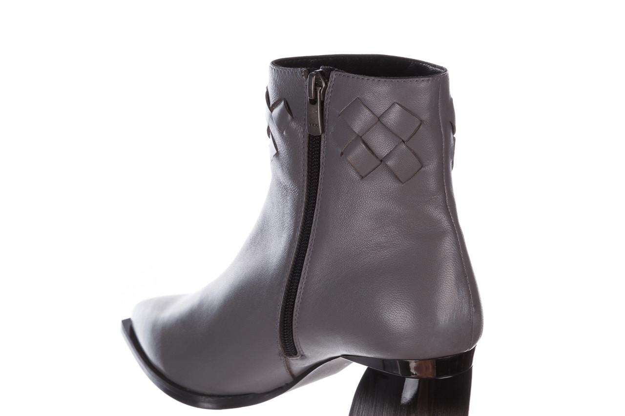 Botki bayla-195 20k-6811 grey 195006, szary, skóra naturalna  - skórzane - botki - buty damskie - kobieta 21