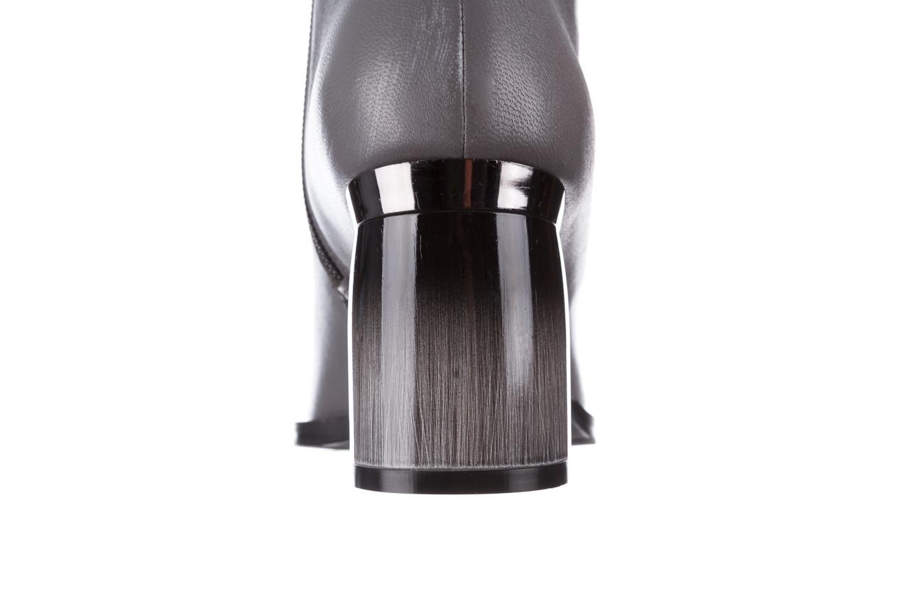 Botki bayla-195 20k-6811 grey 195006, szary, skóra naturalna  - skórzane - botki - buty damskie - kobieta 19