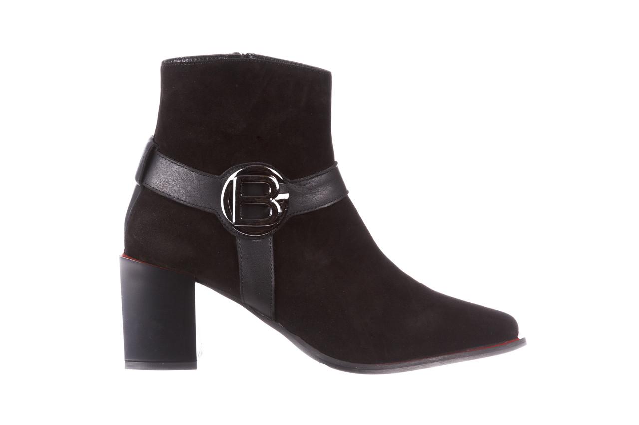 Botki bayla-195 20k-7202-1 black suede 195013, czarny, skóra naturalna  - skórzane - botki - buty damskie - kobieta 11