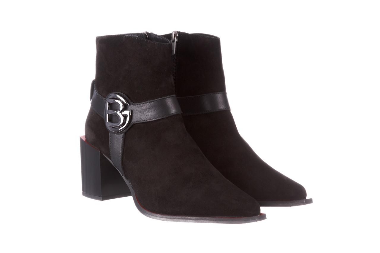 Botki bayla-195 20k-7202-1 black suede 195013, czarny, skóra naturalna  - skórzane - botki - buty damskie - kobieta 12