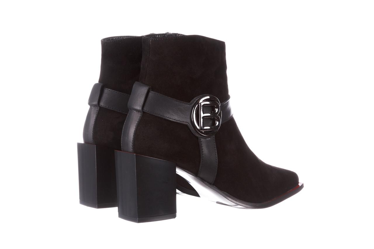 Botki bayla-195 20k-7202-1 black suede 195013, czarny, skóra naturalna  - skórzane - botki - buty damskie - kobieta 15