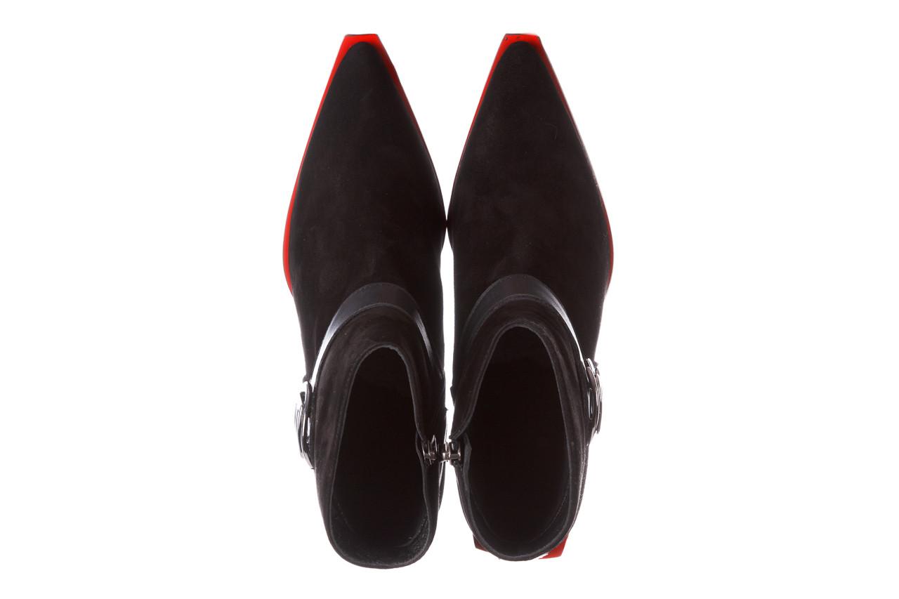 Botki bayla-195 20k-7202-1 black suede 195013, czarny, skóra naturalna  - skórzane - botki - buty damskie - kobieta 16