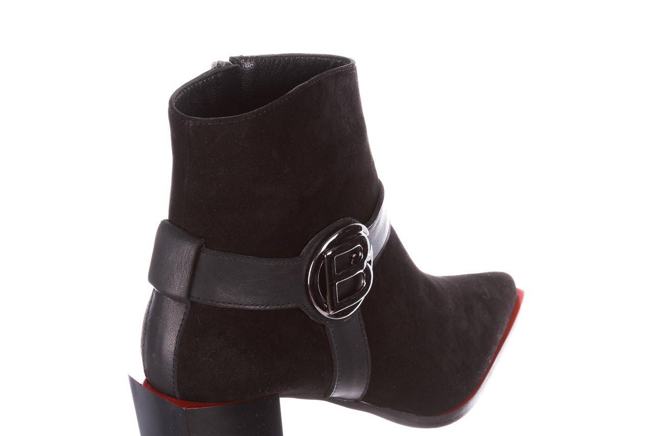 Botki bayla-195 20k-7202-1 black suede 195013, czarny, skóra naturalna  - skórzane - botki - buty damskie - kobieta 17