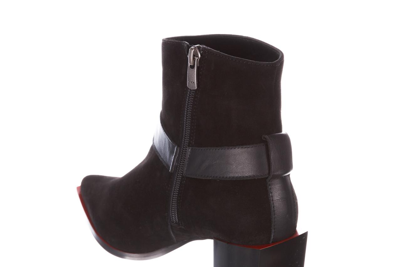 Botki bayla-195 20k-7202-1 black suede 195013, czarny, skóra naturalna  - skórzane - botki - buty damskie - kobieta 18