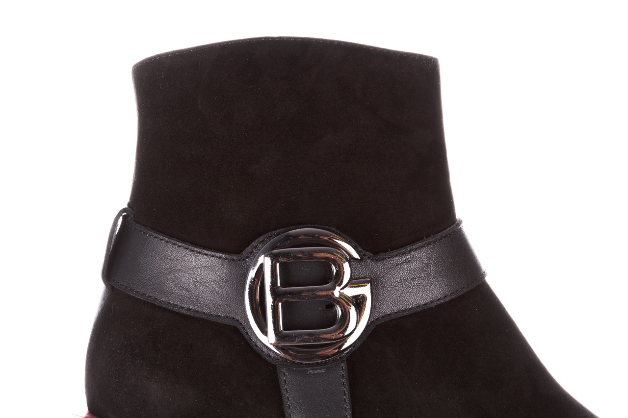 Botki bayla-195 20k-7202-1 black suede 195013, czarny, skóra naturalna  - skórzane - botki - buty damskie - kobieta 21