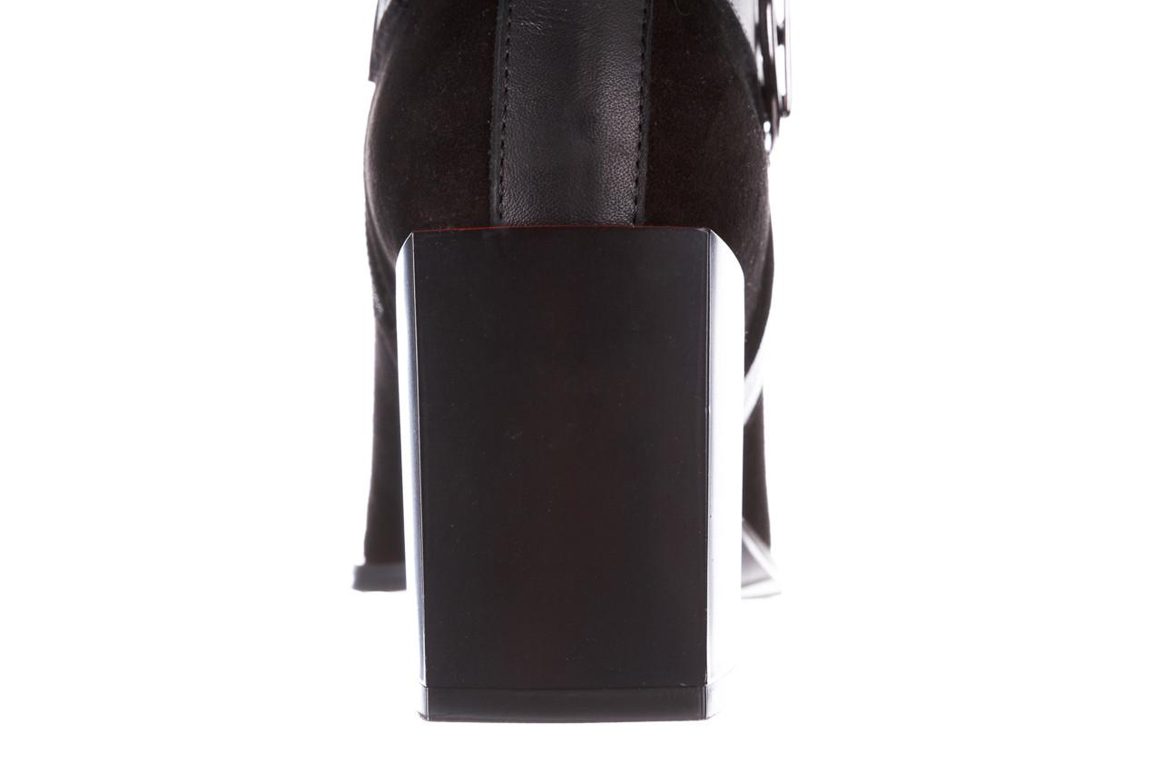 Botki bayla-195 20k-7202-1 black suede 195013, czarny, skóra naturalna  - skórzane - botki - buty damskie - kobieta 19