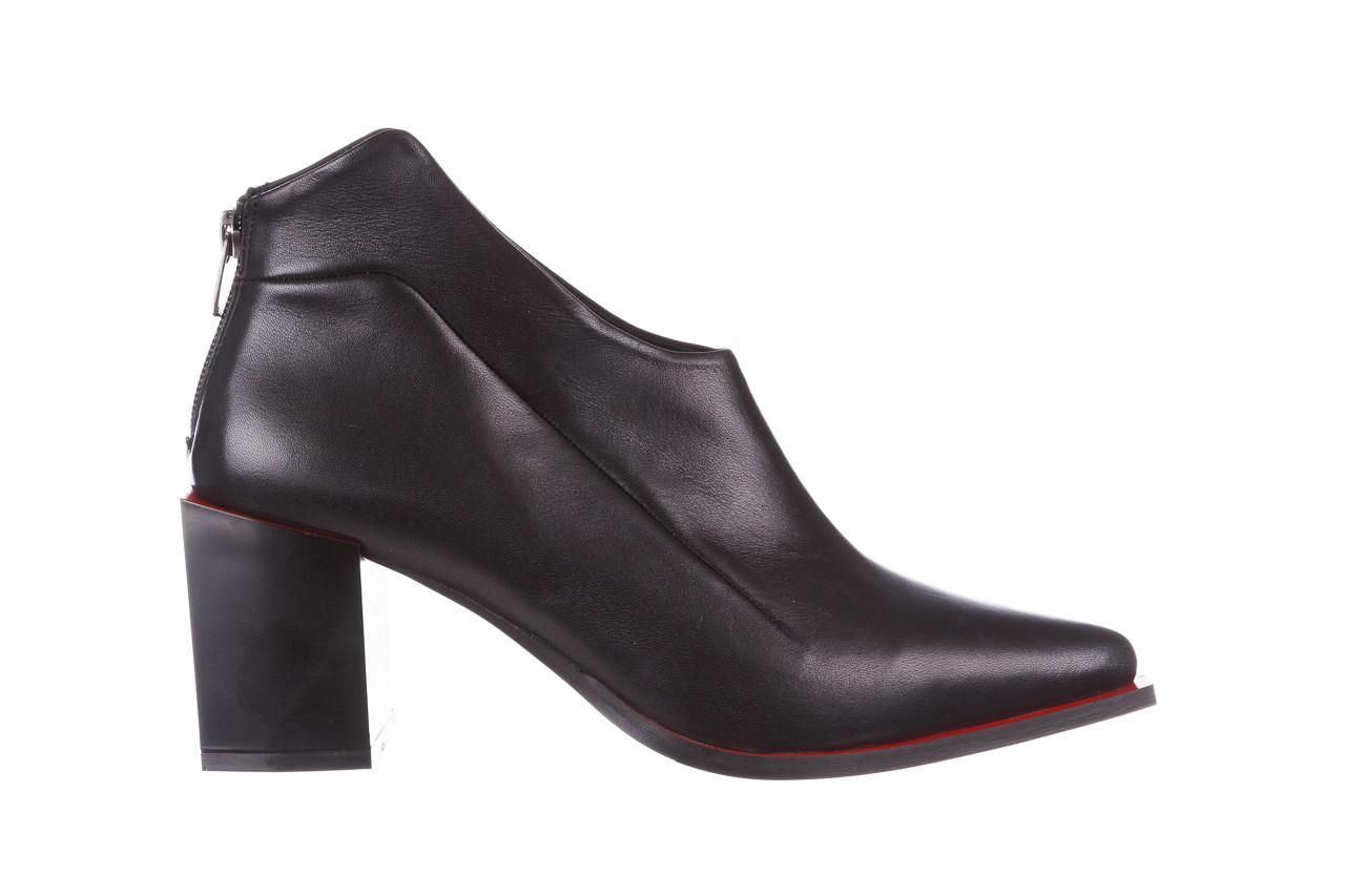 Botki bayla-195 20k-7204 black 195022, czarny, skóra naturalna  - skórzane - botki - buty damskie - kobieta 10