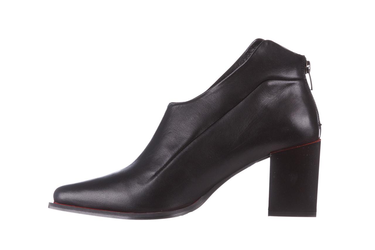 Botki bayla-195 20k-7204 black 195022, czarny, skóra naturalna  - skórzane - botki - buty damskie - kobieta 13