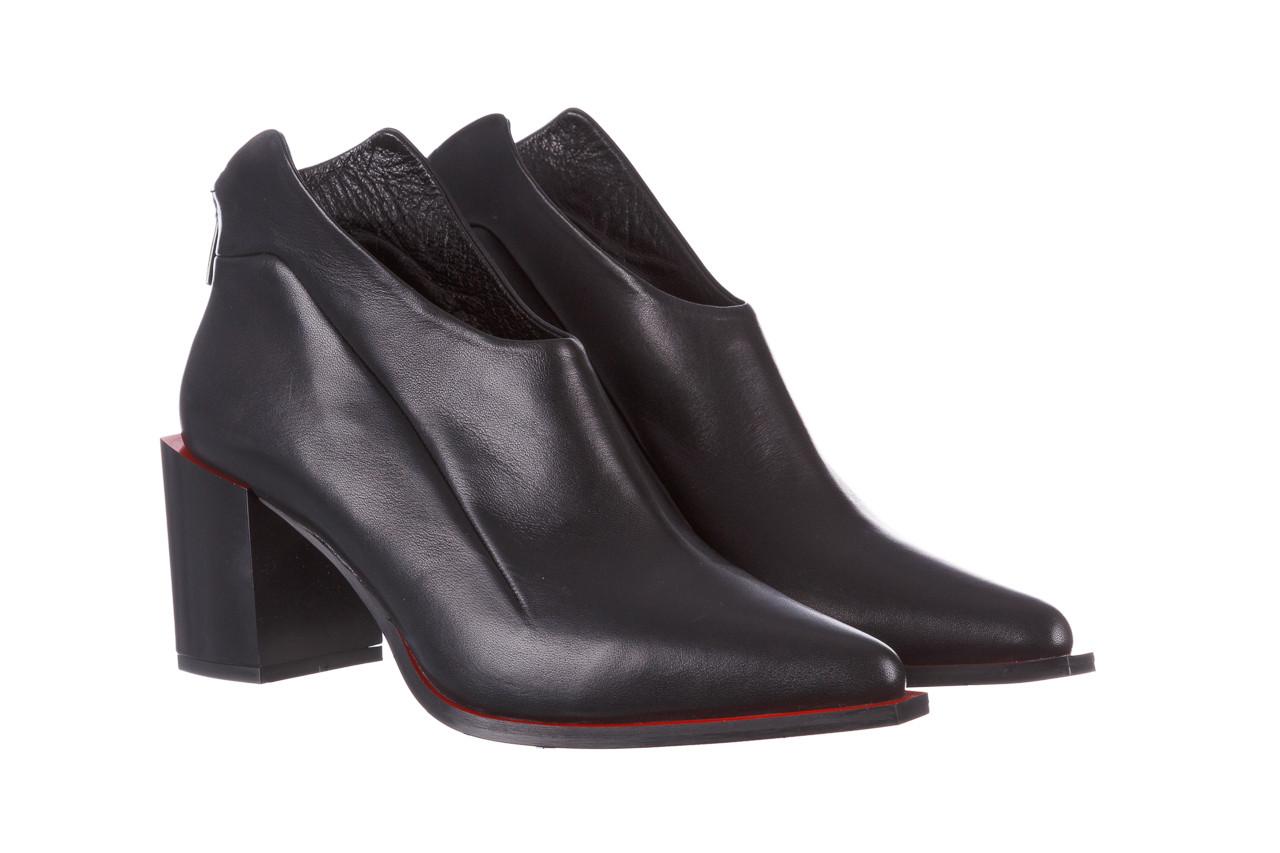 Botki bayla-195 20k-7204 black 195022, czarny, skóra naturalna  - skórzane - botki - buty damskie - kobieta 11
