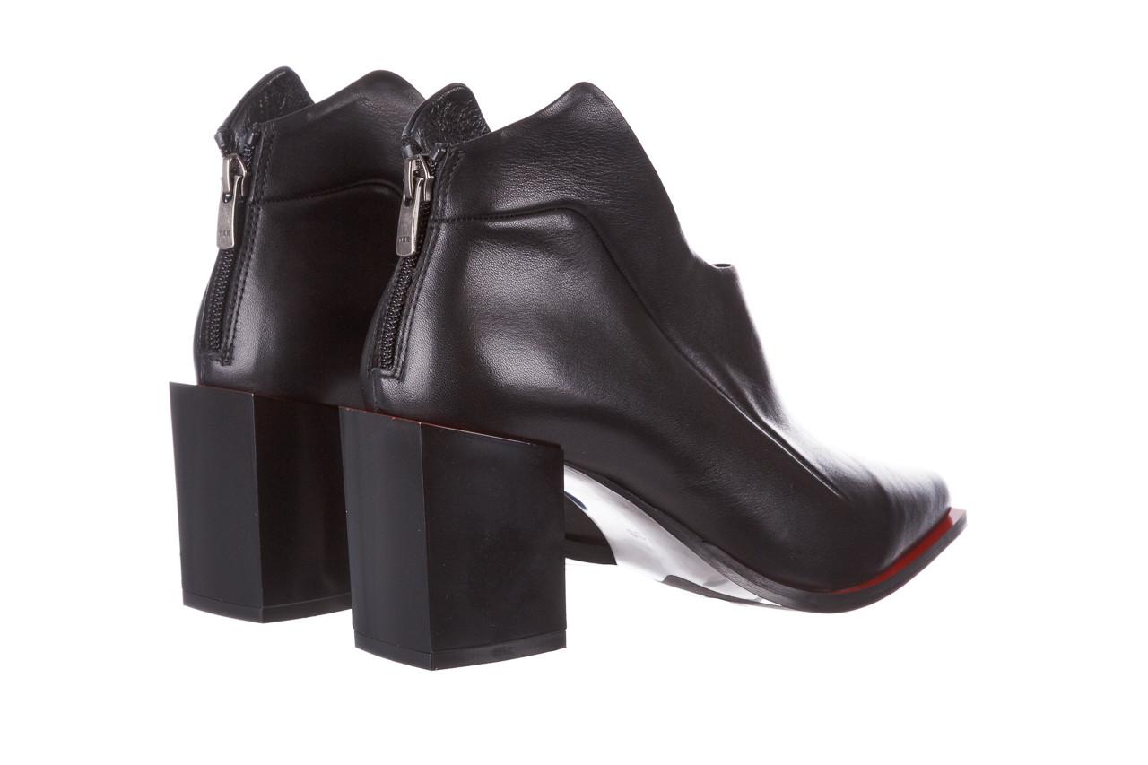 Botki bayla-195 20k-7204 black 195022, czarny, skóra naturalna  - skórzane - botki - buty damskie - kobieta 14