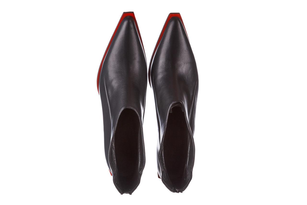 Botki bayla-195 20k-7204 black 195022, czarny, skóra naturalna  - skórzane - botki - buty damskie - kobieta 15