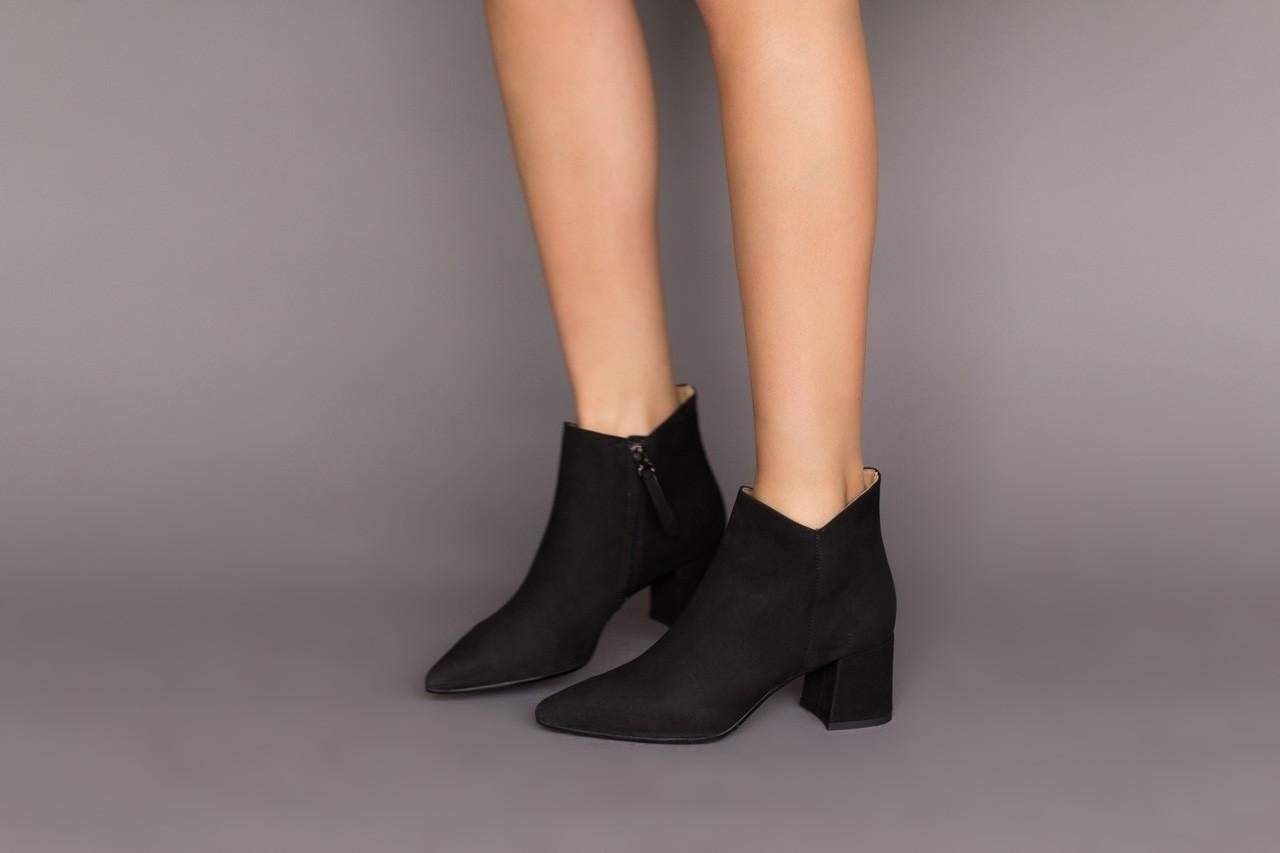 Botki bayla-188 007 czarny 188023, skóra naturalna  - skórzane - botki - buty damskie - kobieta 11