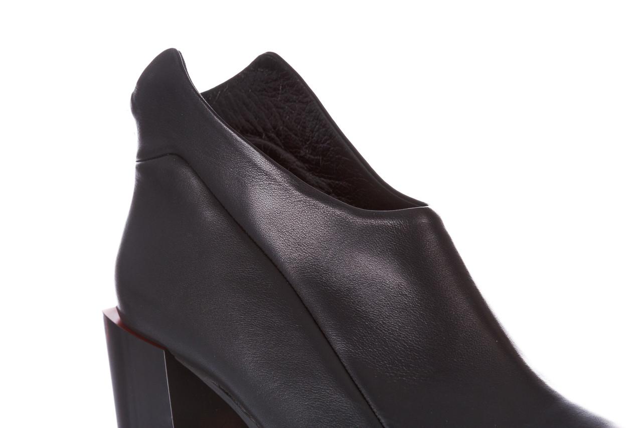 Botki bayla-195 20k-7204 black 195022, czarny, skóra naturalna  - skórzane - botki - buty damskie - kobieta 16
