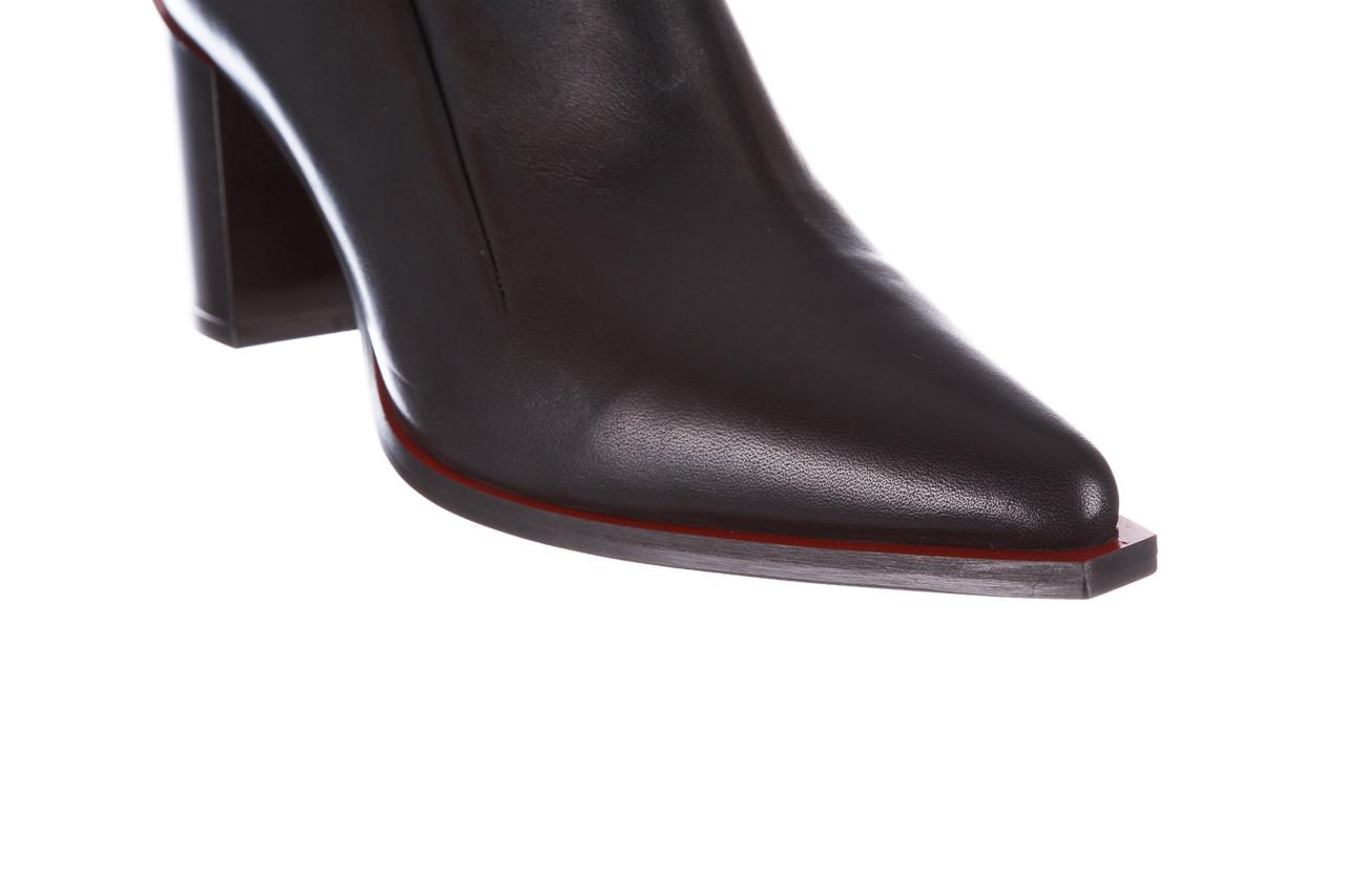 Botki bayla-195 20k-7204 black 195022, czarny, skóra naturalna  - skórzane - botki - buty damskie - kobieta 19