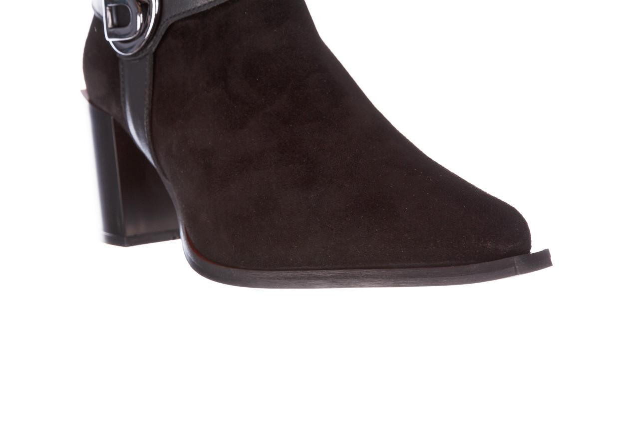 Botki bayla-195 20k-7202-1 black suede 195013, czarny, skóra naturalna  - skórzane - botki - buty damskie - kobieta 20