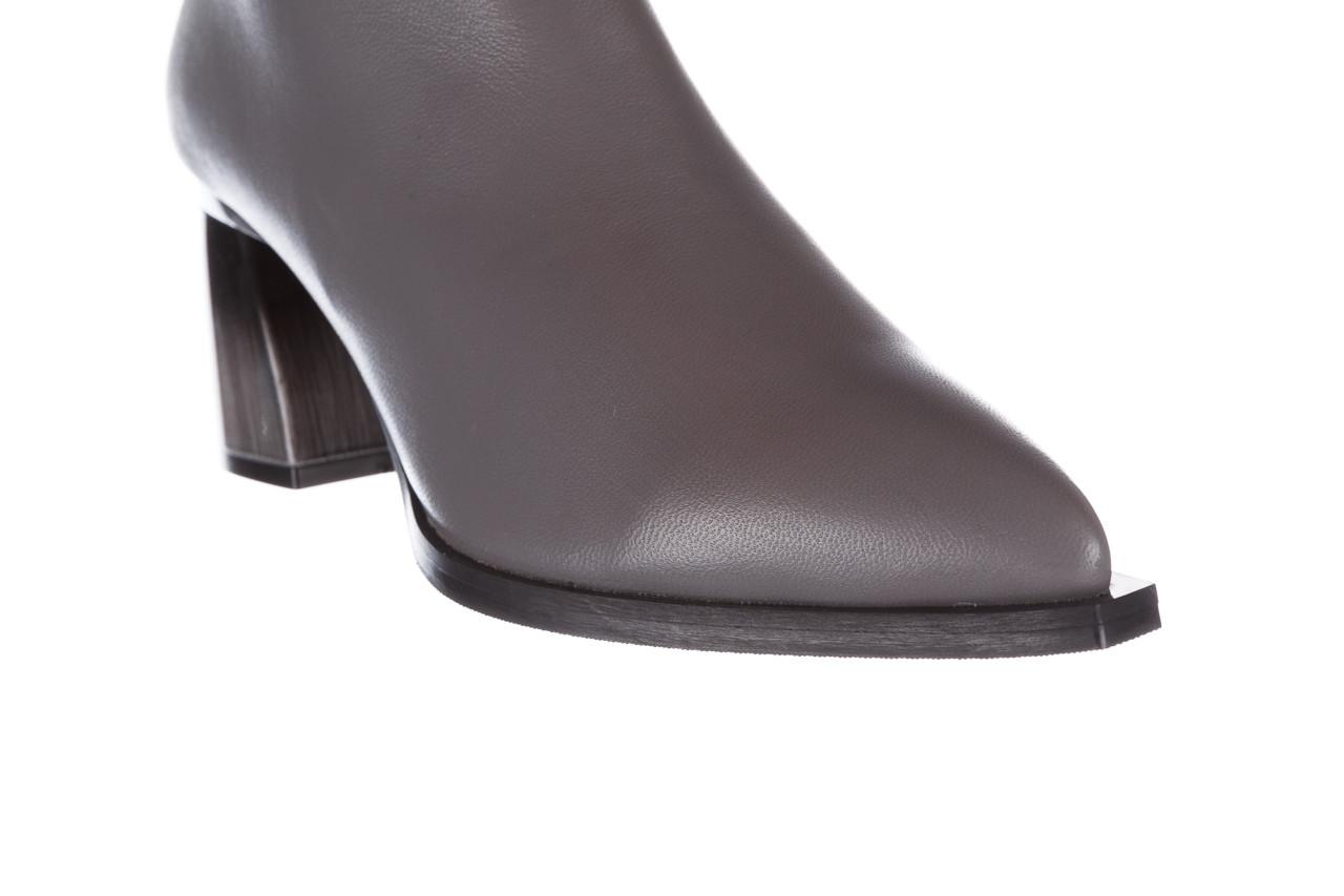 Botki bayla-195 20k-6811 grey 195006, szary, skóra naturalna  - skórzane - botki - buty damskie - kobieta 20