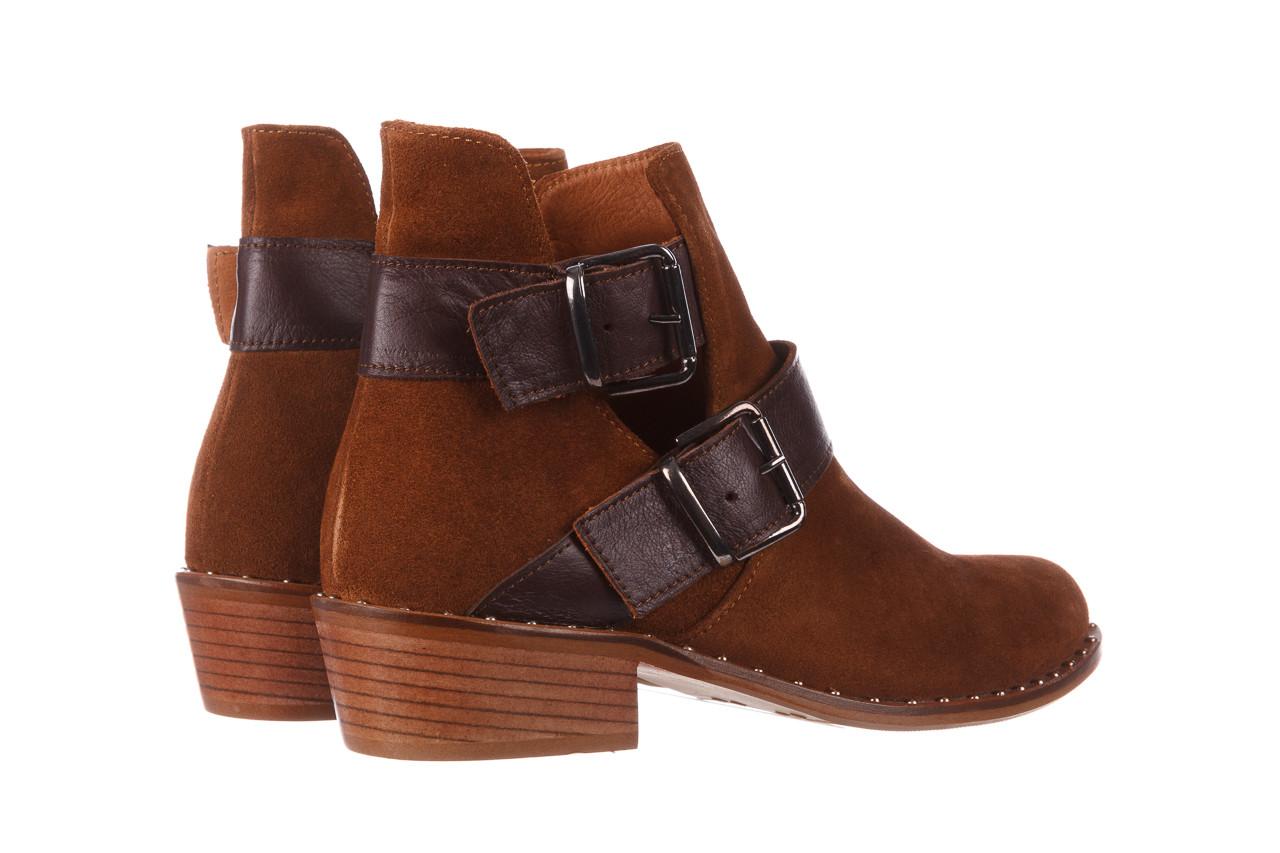 Botki bayla-195 19k-802 vizon brown 195020, brąz, skóra naturalna  - zamszowe - botki - buty damskie - kobieta 16