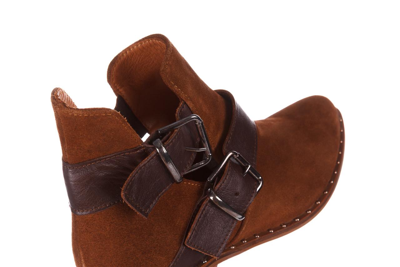 Botki bayla-195 19k-802 vizon brown 195020, brąz, skóra naturalna  - zamszowe - botki - buty damskie - kobieta 18