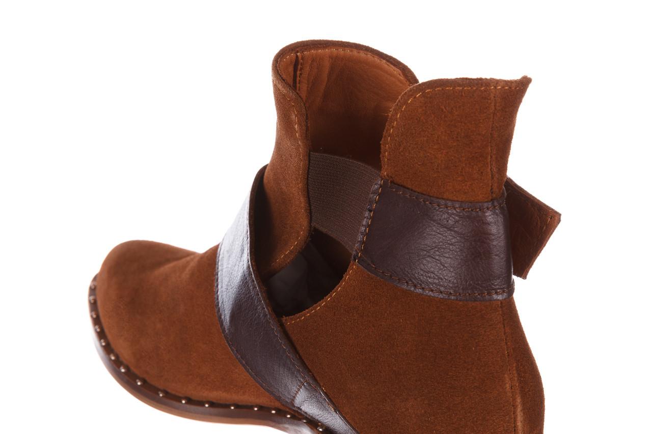 Botki bayla-195 19k-802 vizon brown 195020, brąz, skóra naturalna  - zamszowe - botki - buty damskie - kobieta 19