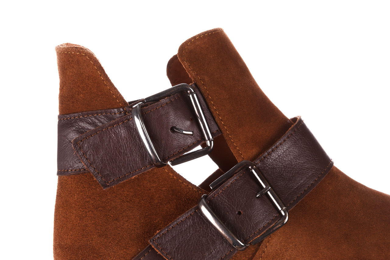 Botki bayla-195 19k-802 vizon brown 195020, brąz, skóra naturalna  - zamszowe - botki - buty damskie - kobieta 21