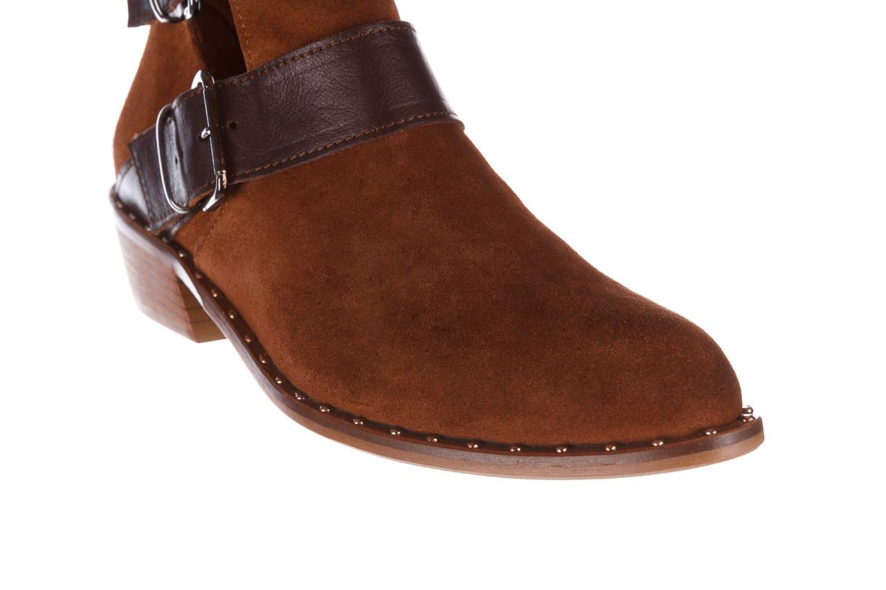 Botki bayla-195 19k-802 vizon brown 195020, brąz, skóra naturalna  - zamszowe - botki - buty damskie - kobieta 20
