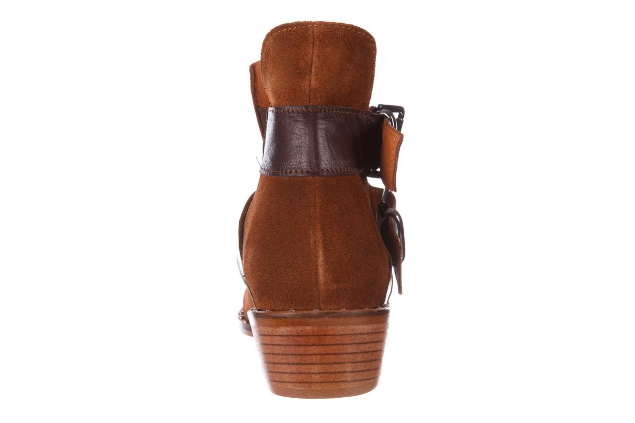 Botki bayla-195 19k-802 vizon brown 195020, brąz, skóra naturalna  - zamszowe - botki - buty damskie - kobieta 22