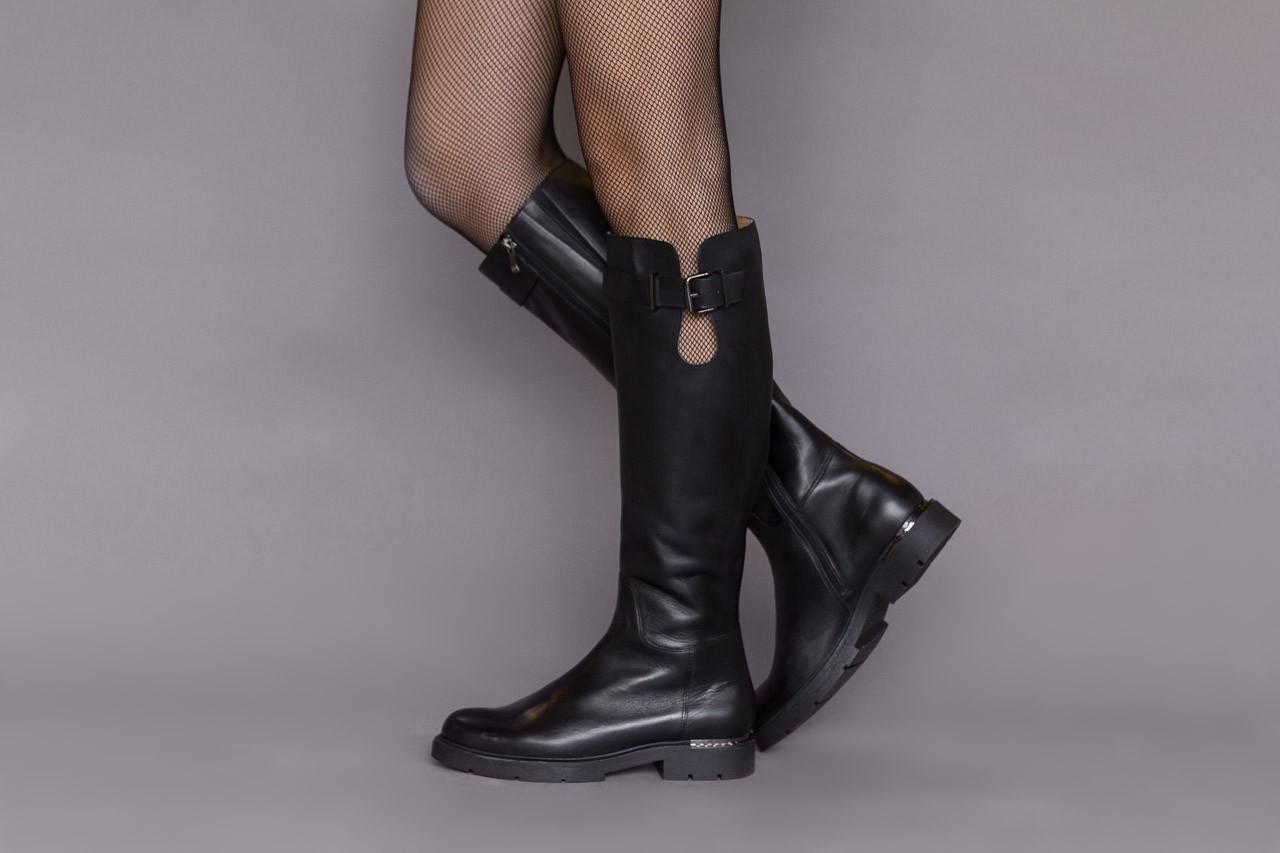 Kozaki bayla-188 020 czarny, skóra naturalna - płaskie - kozaki - buty damskie - kobieta 13