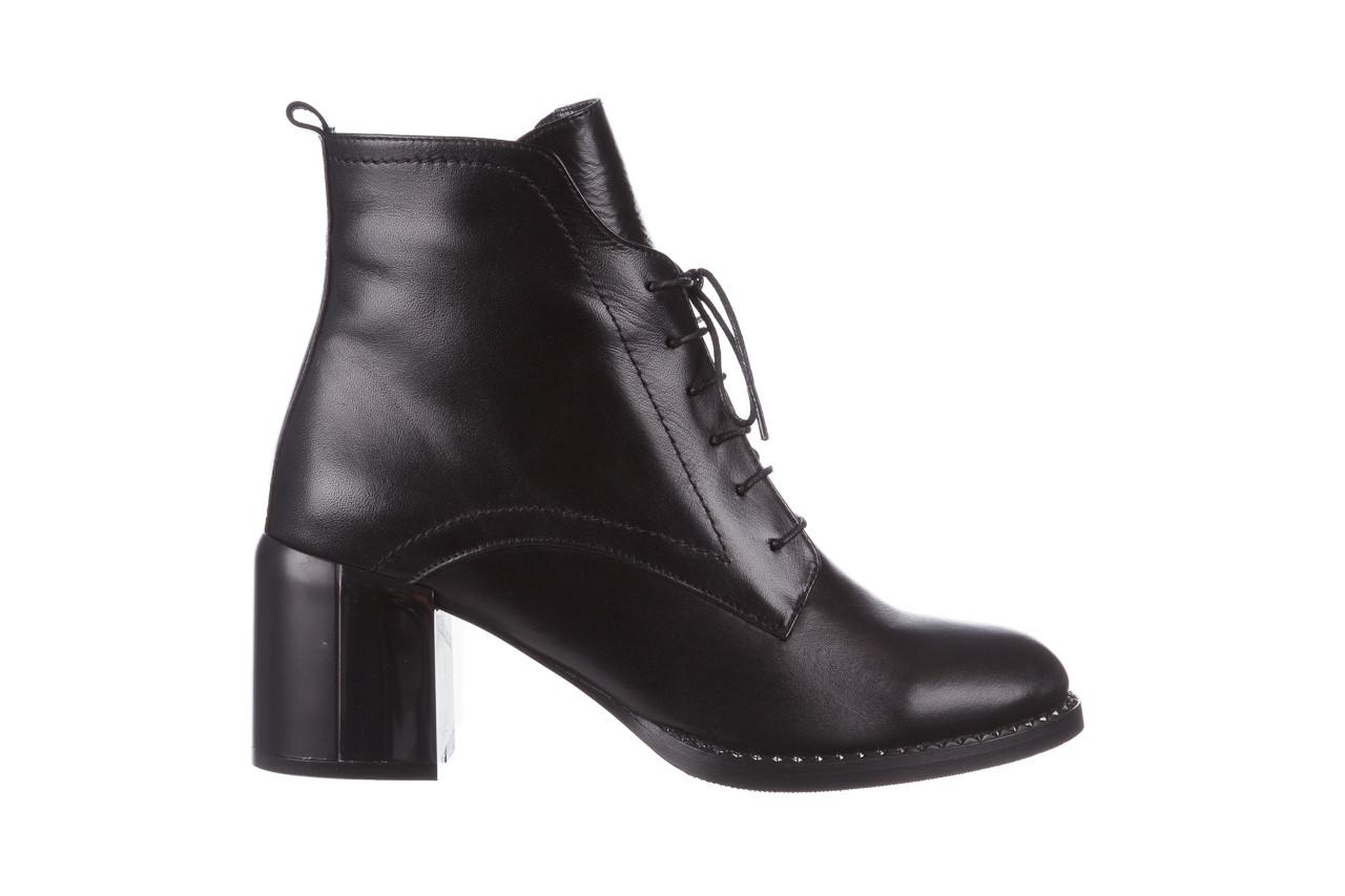 Botki bayla-195 20k-6508 black 195004, czarny, skóra naturalna  - sznurowane - botki - buty damskie - kobieta 11
