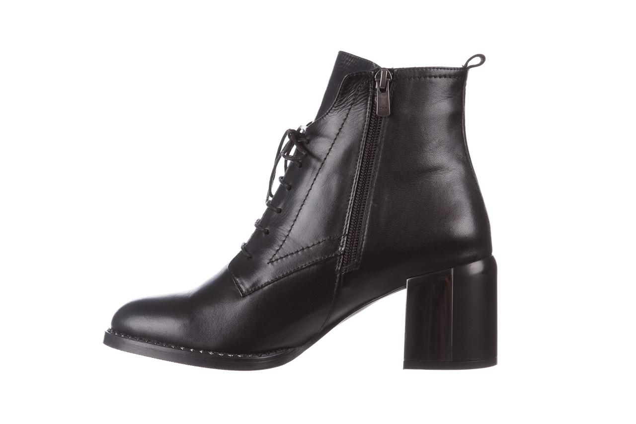 Botki bayla-195 20k-6508 black 195004, czarny, skóra naturalna  - sznurowane - botki - buty damskie - kobieta 14