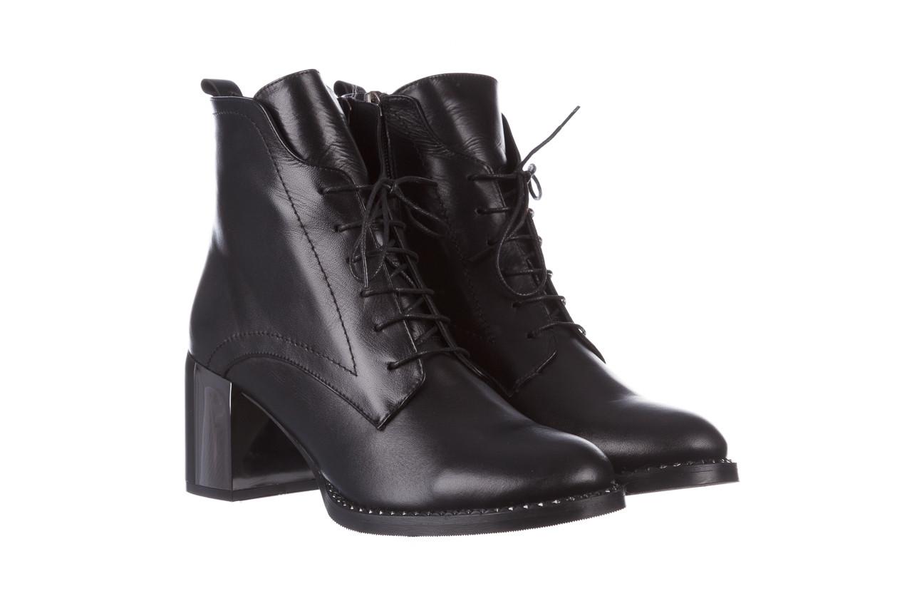 Botki bayla-195 20k-6508 black 195004, czarny, skóra naturalna  - sznurowane - botki - buty damskie - kobieta 12