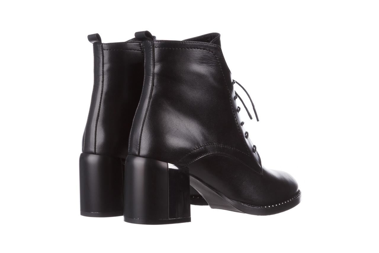 Botki bayla-195 20k-6508 black 195004, czarny, skóra naturalna  - sznurowane - botki - buty damskie - kobieta 15